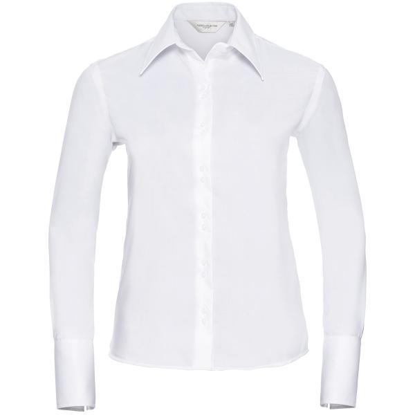 Taillierte bügelfreie Bluse – Langarm