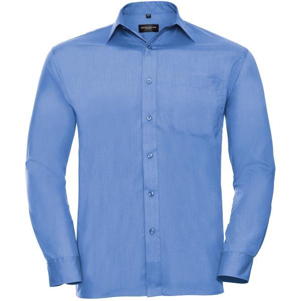Klassisches Baumwollmischgewebe Popeline Hemd – Langarm