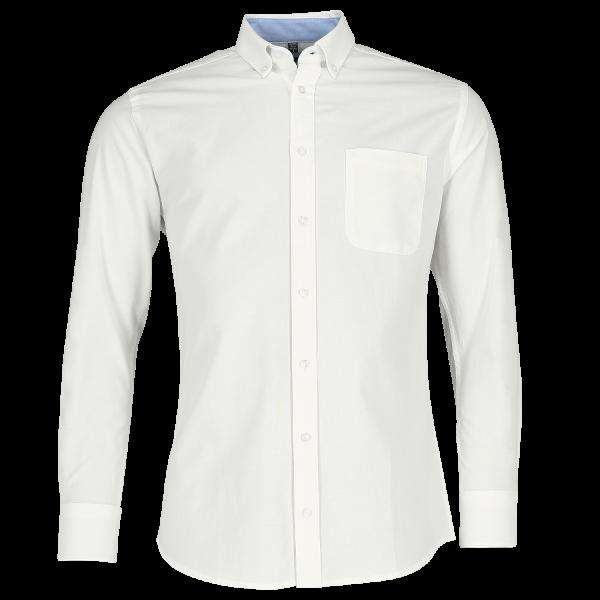 Tailliertes Washed Oxford Hemd – Langarm
