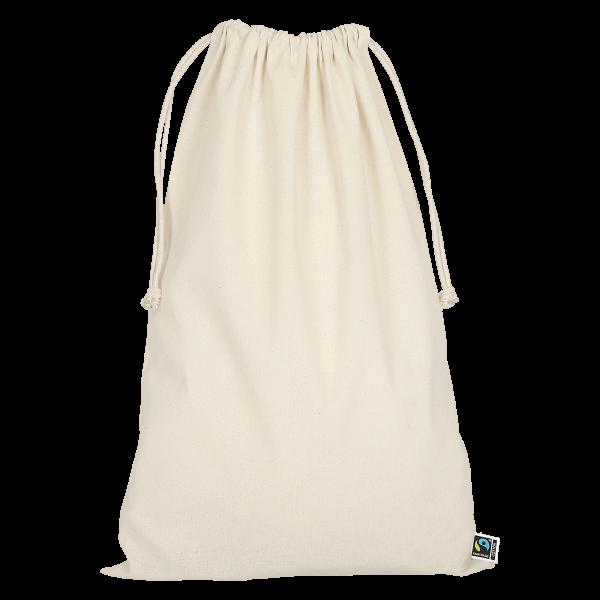 Texxilla Zuziehbeutel aus Fairtrade-Baumwolle, 30 x 45 cm