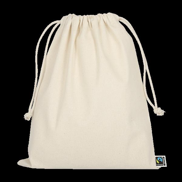 Texxilla Zuziehbeutel aus Fairtrade-Baumwolle, 25 x 30 cm