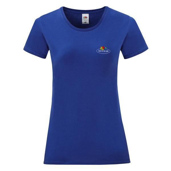 Fruit of the Loom Ladies Iconic T-Shirt mit kleinem Vintage-Logo