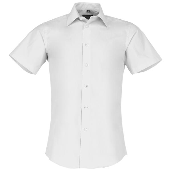 Men's Short Sleeve Polycotton Easy Care Tailored Poplin