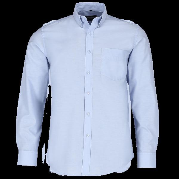 Tailliertes Button-Down Oxford Hemd – Langarm