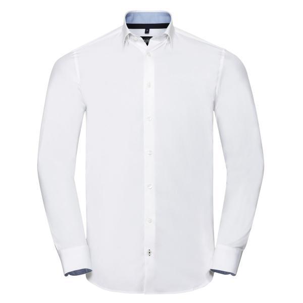 Tailliertes Ultimate Stretch Kontrast-Hemd – Langarm