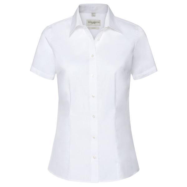 Taillierte Coolmax® Bluse – Kurzarm