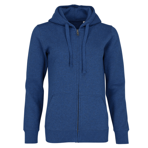 Damen Authentic Melange Zipped Hood Sweat