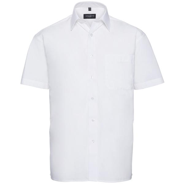 Men's Short Sleeve Pure Cotton Easy Care Poplin Shirt