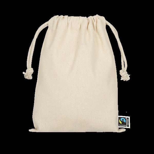 Texxilla Zuziehbeutel aus Fairtrade-Baumwolle, 15 x 20 cm
