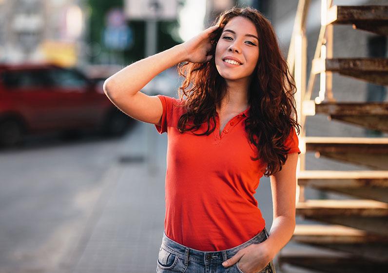damen-shirt-rot