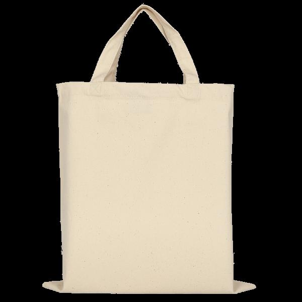 Canvas-Tasche mit zwei kurzen Henkeln