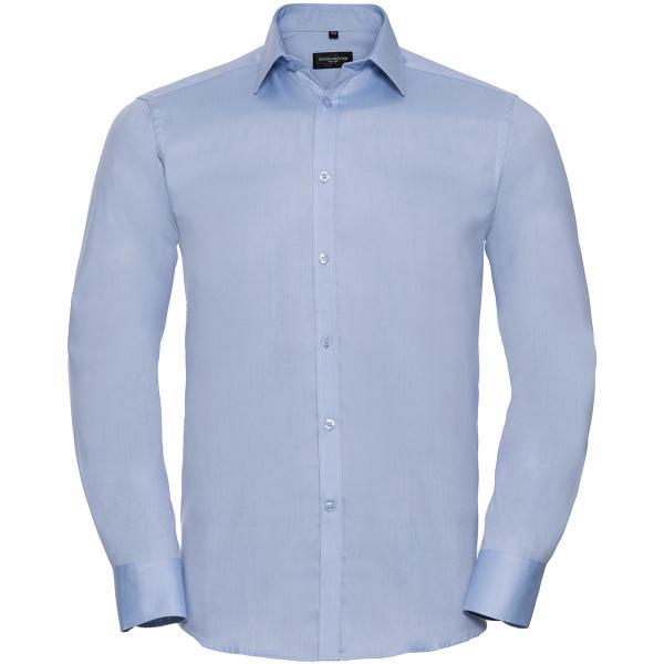 Tailliertes Herringbone Hemd – Langarm