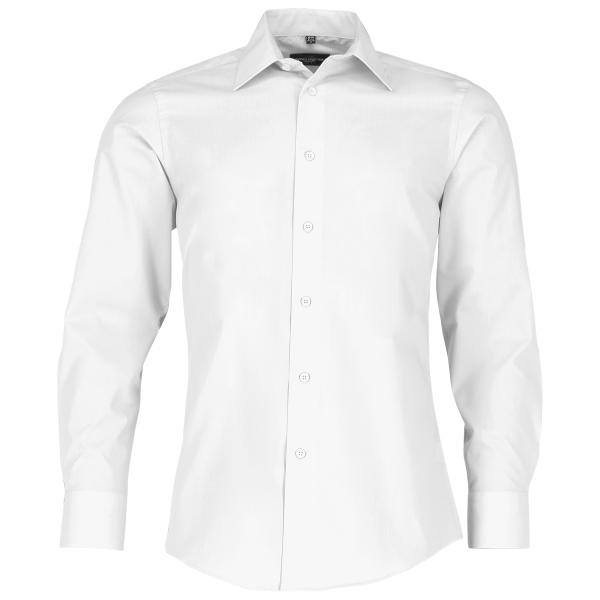 Men's Long Sleeve Polycotton Easy Care Tailored Poplin