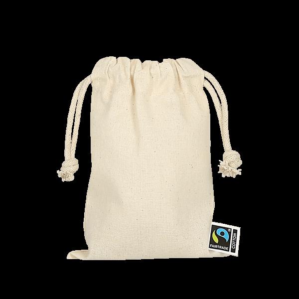 Texxilla Zuziehbeutel aus Fairtrade-Baumwolle, 10 x 14 xm