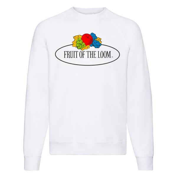 Fruit of the Loom Raglan Sweat mit Vintage-Logo