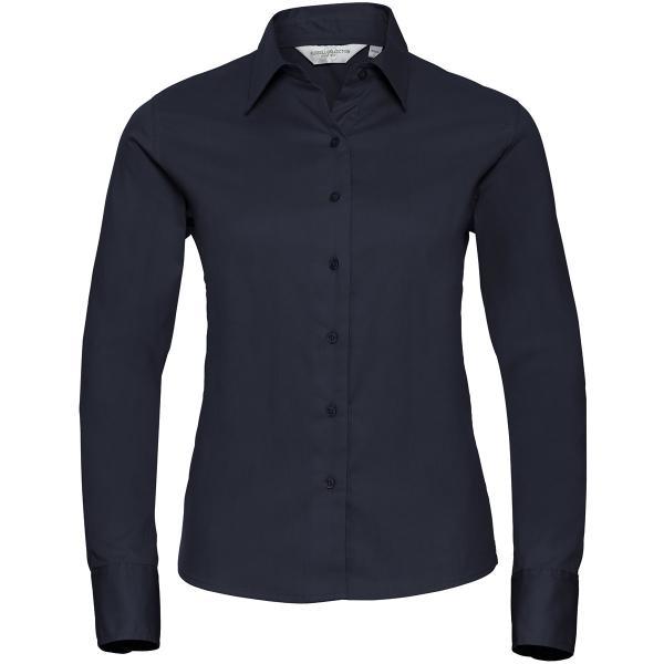 Klassische Twill Bluse – Langarm