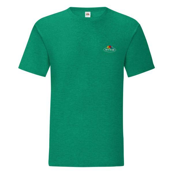 Fruit of the Loom Iconic T-Shirt mit kleinem Vintage-Logo
