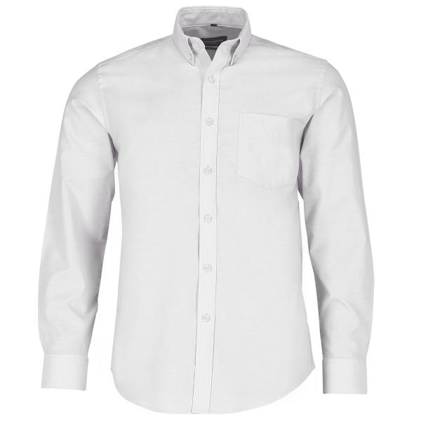 Tailliertes Button-Down Oxford Hemd – Langarm